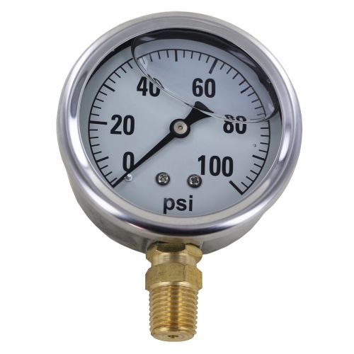 Pressure gauge with 100 psi maximum reading.