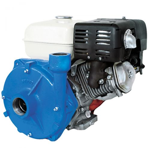 The Hypro 1538 Centrifugal Pump. It is shown in this picture coupled to a Honda 5.5 hp gas engine. You can purchase this pump separately, or already coupled to the engine and ready to start pumping.