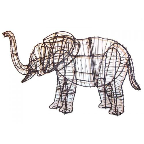 """This 19"""" Elephant Topiary Frame comes with the wire frame only and does NOT include moss stuffing."""