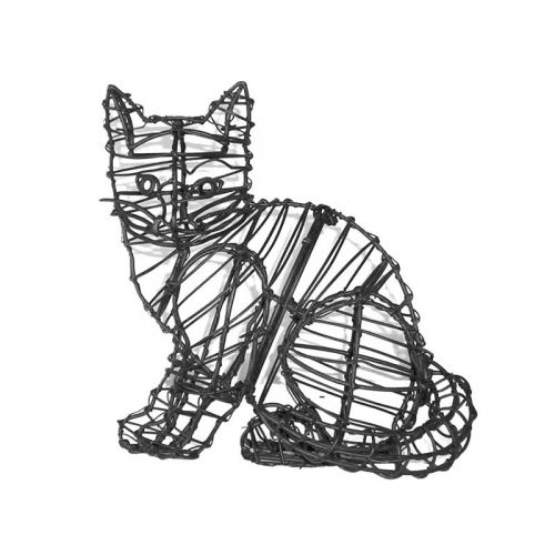"This 9"" Sitting Kitten Topiary Frame comes with the wire frame only and does NOT include moss stuffing."