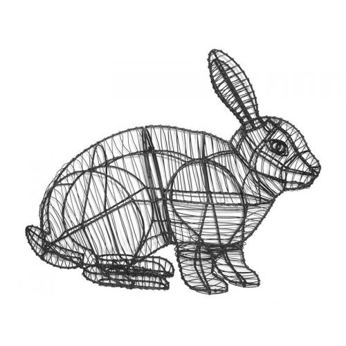 "This 13"" Rabbit Topiary Frame comes with the wire frame only and does NOT include moss stuffing."