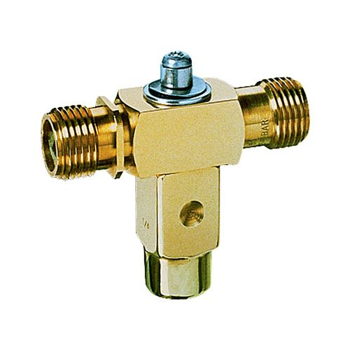 Brass Double Outlet Rollover Valve with female inlet:  Available with male or female inlet connections.