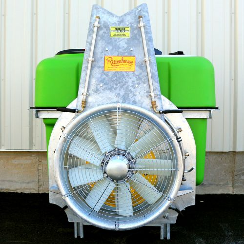 "Rittenhouse 3PTH Air Blast Vineyard / Orchard Sprayer with 24"" nylon fan. Shown with optional tower."