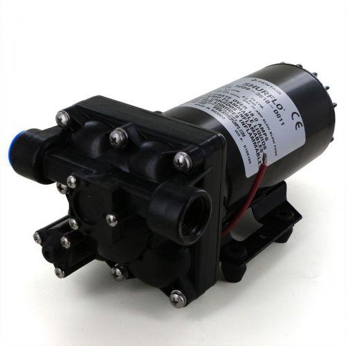 "Shurflo 12V Bypass Pump with female 1/2"" NPT ports."