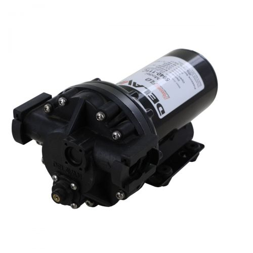 "Delavan 5940-111C Electric 12V Bypass Diaphragm Pump with 3/4"" Quick Attach ports."