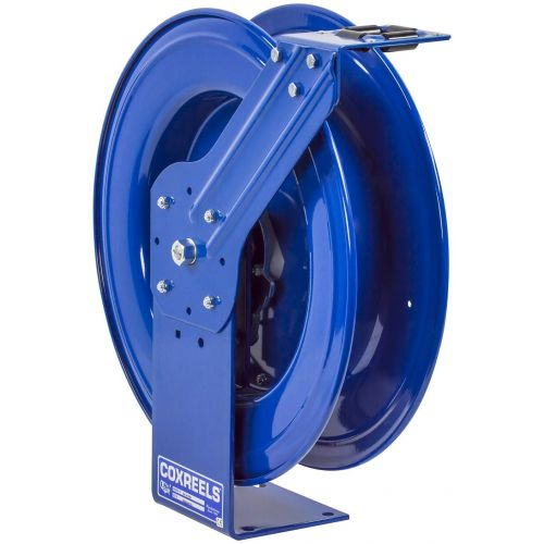 "Coxreels MPL-N-350 Spring-Driven Heavy Duty Hose Reel stores 50' of 3/8"" inside diameter hose. HOSE NOT INCLUDED."