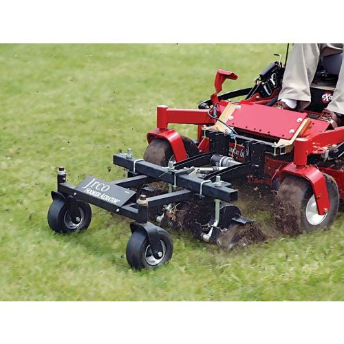 JRCO Soft Plug Aerator Commercial Mower Attachment (mower not included).