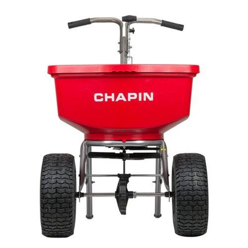 Chapin 8400C with 100 lb. poly hopper capacity.