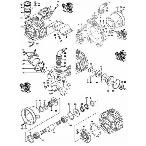 Hypro D250 Parts:  Complete parts breakdown.  Select a part by its reference number or by its part number.