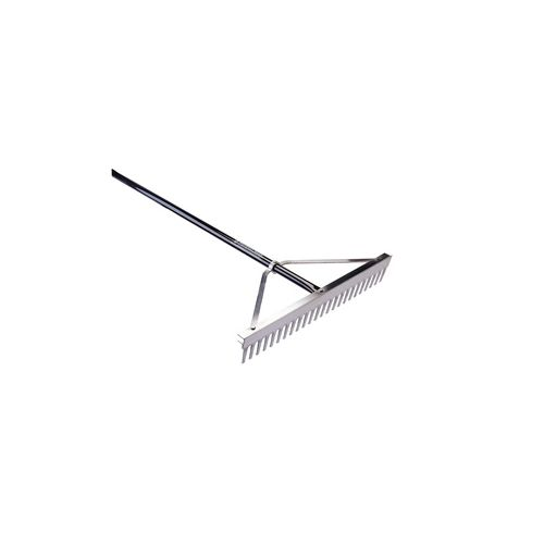 This grading rake is the industry standard design.