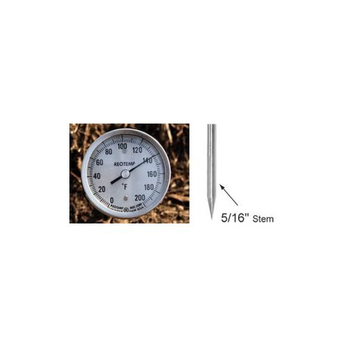 "Heavy Duty Compost Thermometer, 5/16"" stem."
