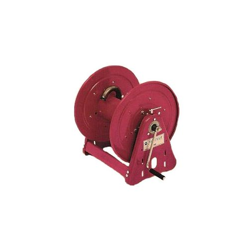 "Manual Rewind Reelcraft Hose Reel. The drum has a 12"" width. All steel construction."