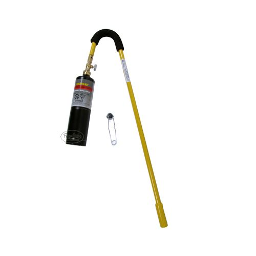Mini Dragon Weed Torch Kit includes the flint starter, disposable propane cylinder is NOT included.