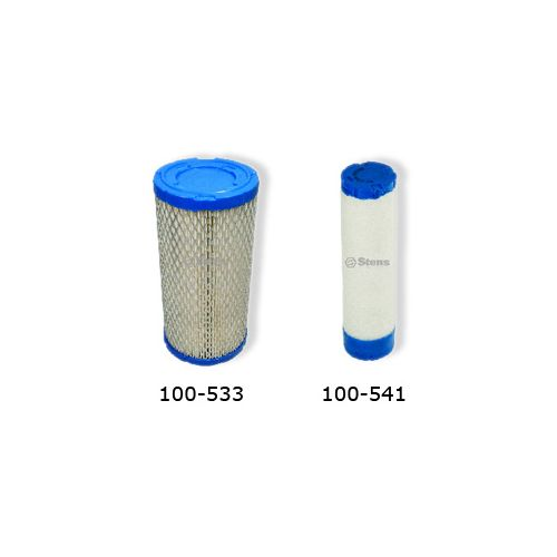 100-533 Air Filter and 100-541 Pre Filter for Kohler CH25 and CH26 Engines.