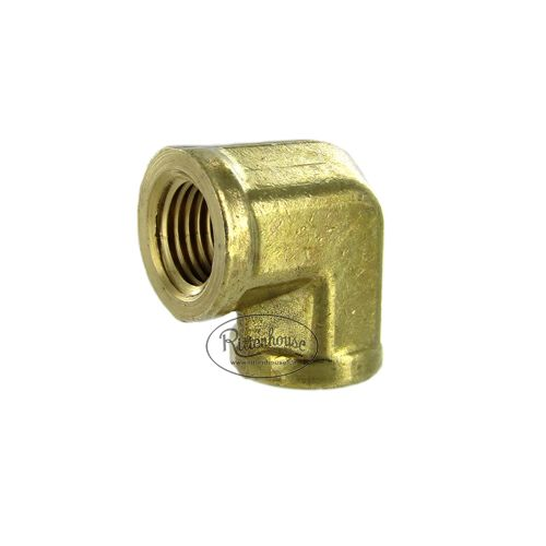 Solid Brass Forged 90 Degree Elbow.
