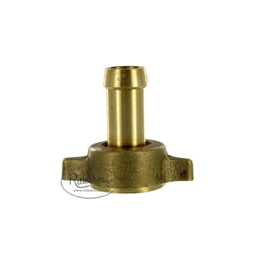 "Brass Hose Barb 1/2"" straight, also available in 3/8""."