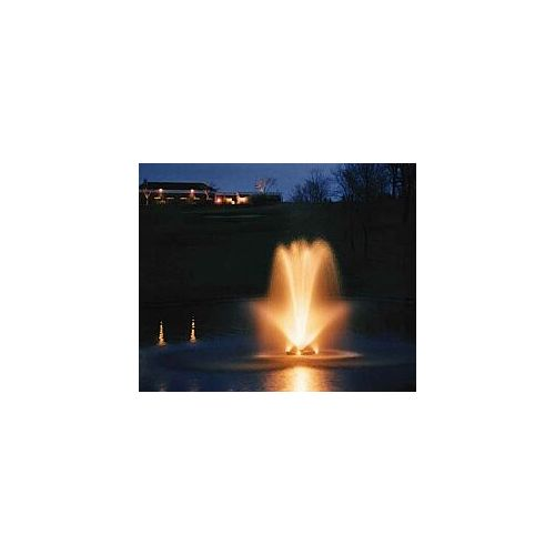 Add lights to beautify your pond.