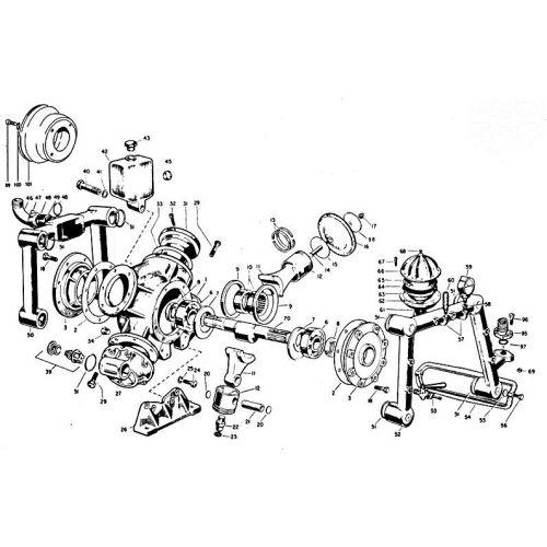 Parts listing for the Hypro D1900 Diaphragm Pump.