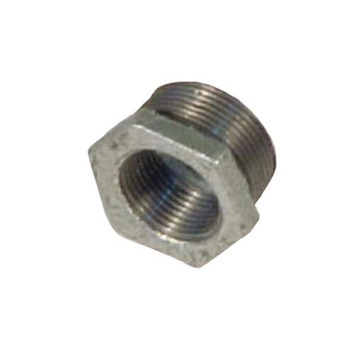 Galvanized hex bushing.