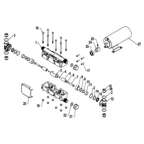 Hypro 2120 Plunger Pump Parts Breakdown.