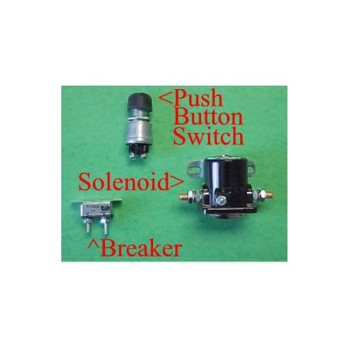 A push button, solenoid, and breaker for Hannay or Reelcraft Hose Reels.