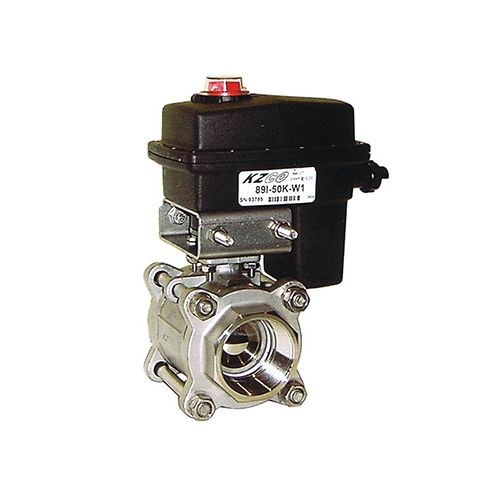 KZ Valve 89 Series Electrc Ball Valves available with either 1 inch or 1 1/4 inch FNPT.