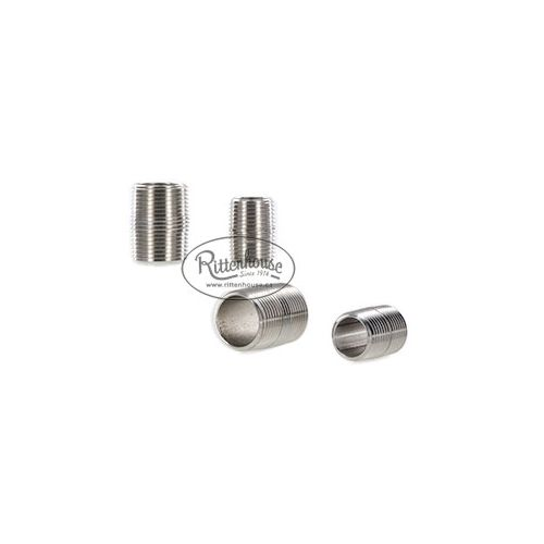 1/2 inch and 3/4 inch Stainless Steel Close Nipples - plumbing components.