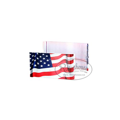 Demi Fence Armor - American flag graphic - available in 6 x 6 inch and 4 x 4 inch for wood posts.