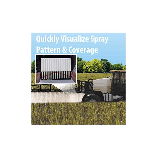 Determine your spray pattern and coverage in the field in less than 10 seconds.