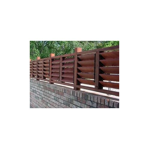 Numerous designs are possible. This one incorporates a brick privacy fence with the Versa Fence system.