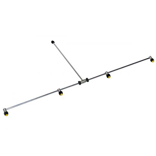 Cover large spraying areas in quick time with this 4 Nozzle Aluminum Spray Boom.