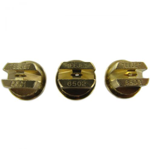 The TeeJet Brass 65 Degree Nozzle is available in 10 different sizes.