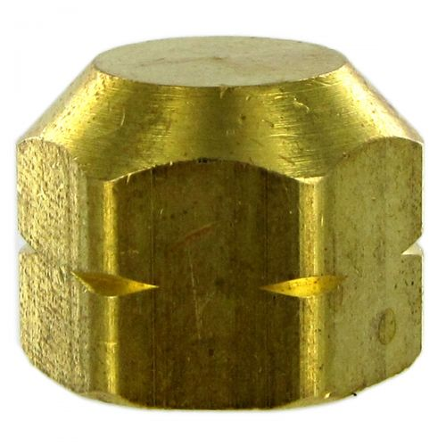 Solid Brass Pipe Cap available in multiple sizes.