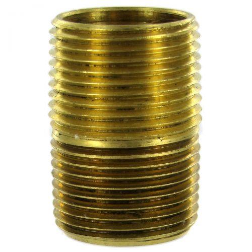 Solid Brass NPT Close Nipple.