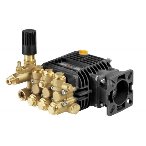 "Comet BWD-K Series Industrial Triplex Plunger Pumps with 3/4"" hollow shafts."