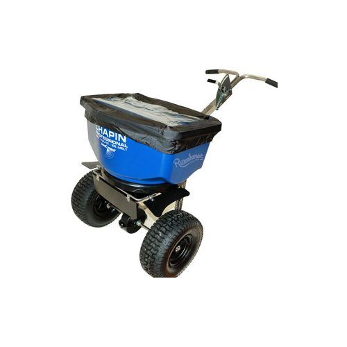 Chapin 100 lb. capacity Salt and Icemelt Spreader 82108. For spreading salt and icemelt during the cold winter months. Includes rain cover.