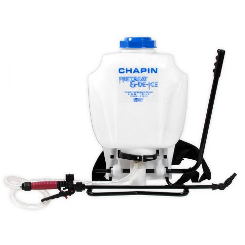 Perfect for appying liquid deicing products on sidewalks, walkways and driveways. Chapin pretreat & deice backpack sprayer.