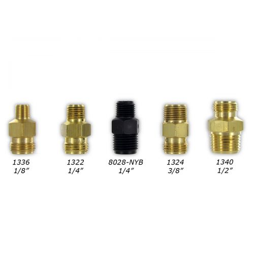 Brass TeeJet Male Inlet Nozzle Bodies.