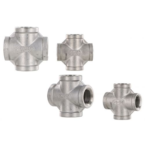 3/4 inch and 1/2 inch Stainless Steel Crosses - plumbing components.