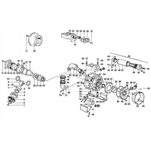 Parts listing for the Hypro D1105 Diaphragm Pump.
