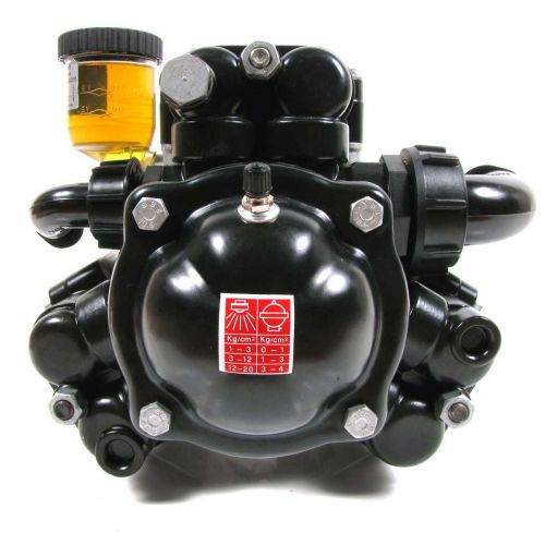 Shown is the front of the Hypro D115 3-Diaphragm Pump.