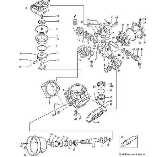 Parts breakdown for the Hypro D115 and D135 Diaphragm Pumps.