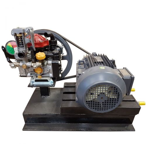 A high performance Hypro D30 and Electric Motor Assembly intended for greenhouse sprayers.