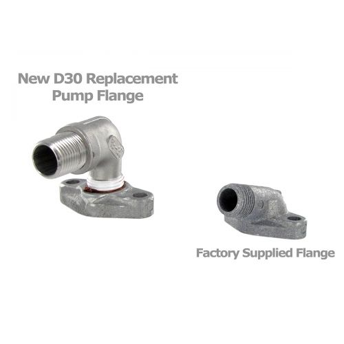 Brand new replacement flange for the Hypro D30 pump.