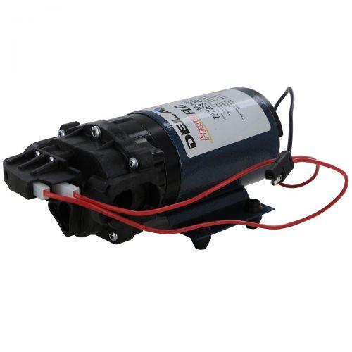 Delavan Flex Series 12V Diaphragm Pump with quick attach port system.