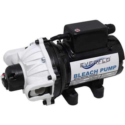 This 12V pump is ideal for killing bacteria and viruses with bleach formulas on many indoor and outdoor surfaces.