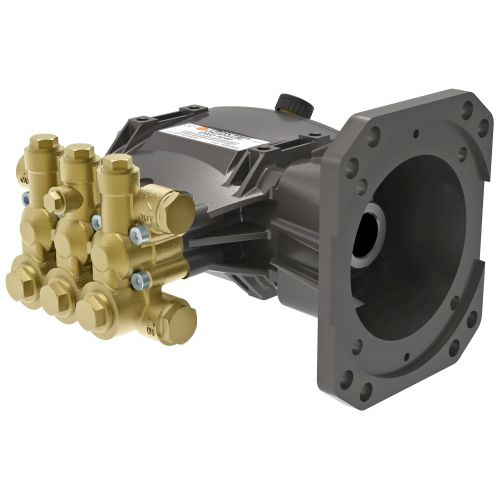 "Comet EWD Series Industrial Triplex Plunger Pump with 1"" hollow shaft."