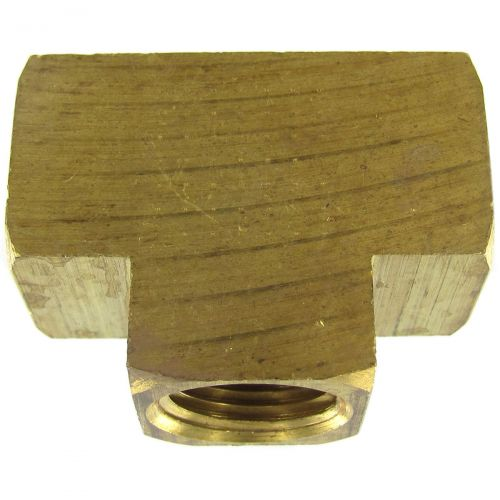 Solid Brass Extruded Tee.