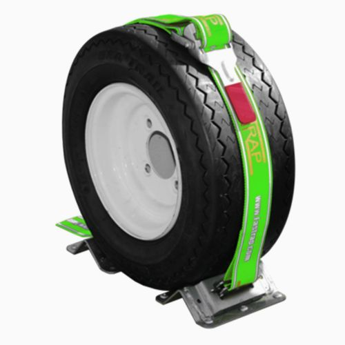 Please note that 1 Fastrap secures 1 tire. You will need 2 Fastraps to secure two wheels.