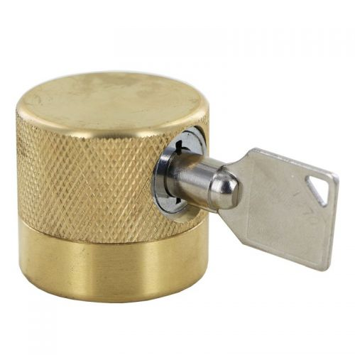 Protect your outdoor water faucet from unauthorized use with the Water Faucet Lock.